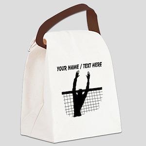Custom Volleyball Block Canvas Lunch Bag