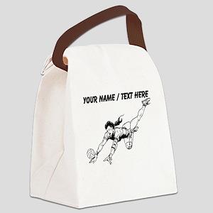Custom Volleyball Dig Canvas Lunch Bag