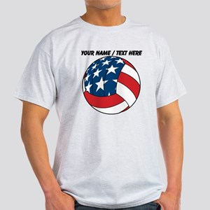 Custom Stars And Stripes Volleyball T-Shirt