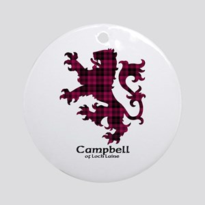 Lion - Campbell of Loch Laine Ornament (Round)