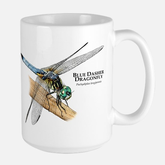 Blue Dasher Dragonfly Large Mug
