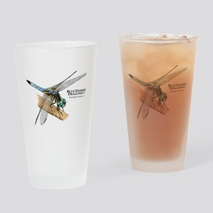 Blue Dasher Dragonfly Drinking Glass