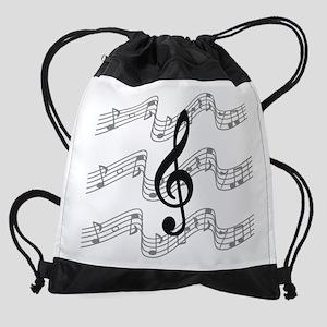 4c3c5b34f2b8 Music Staffs with Treble Clef Drawstring Bag