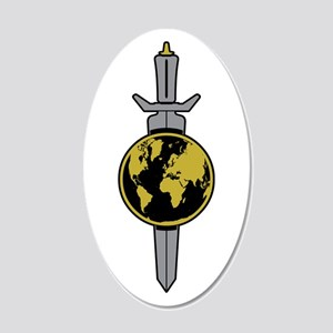 ENTERPRISE Sword 20x12 Oval Wall Decal