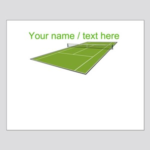 Custom Tennis Court Poster Design