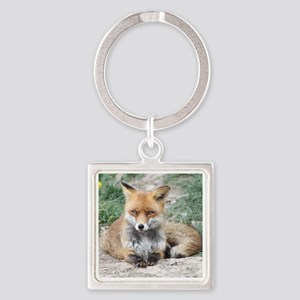 Fox002 Square Keychain