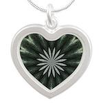 Pattern 1004 Silver Heart Necklace
