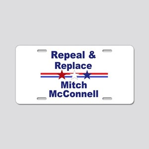 Repeal and replace Mitch Mc Aluminum License Plate