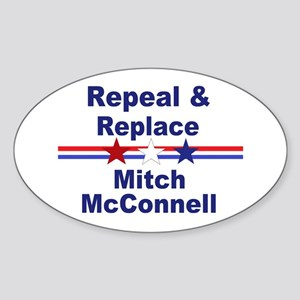 Repeal and replace Mitch McConnell Sticker (Oval)