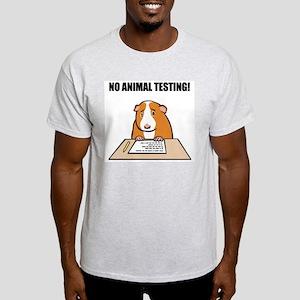 No Animal Testing! Ash Grey T-Shirt