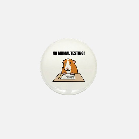 No Animal Testing! Mini Button