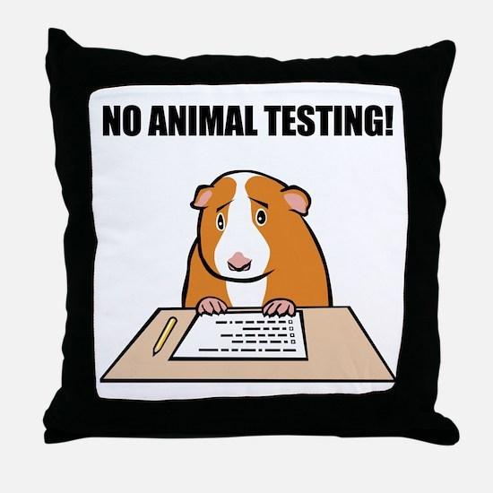 No Animal Testing! Throw Pillow
