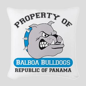Property of BHSB Logo Woven Throw Pillow