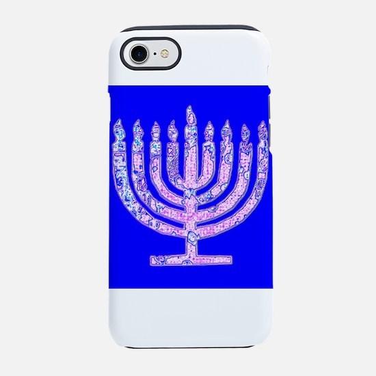 Menorah Hanukkah Lemuel's iPhone 7 Tough Case