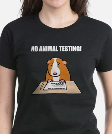 No Animal Testing! Women's Dark T-Shirt