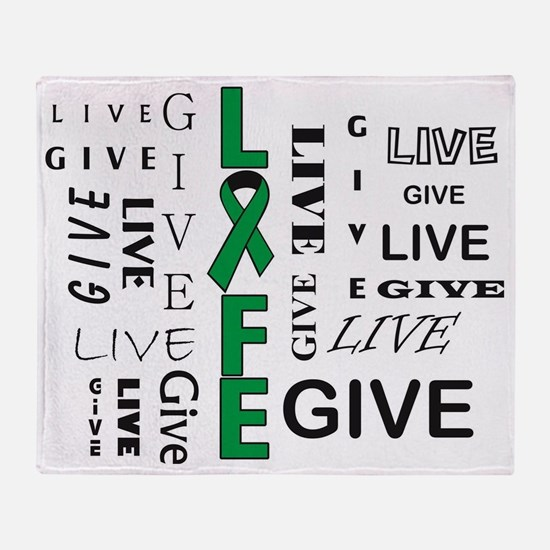 Live to Give Throw Blanket