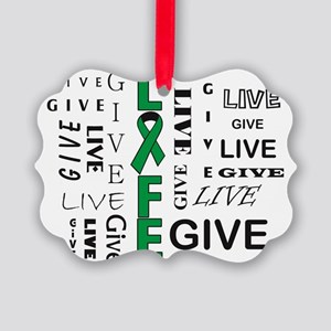 Live to Give Picture Ornament