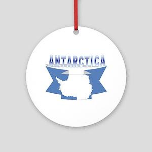 Antarctic flag ribbon Ornament (Round)