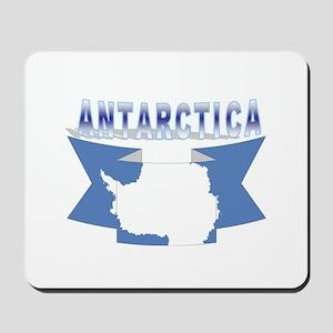 Antarctic flag ribbon Mousepad