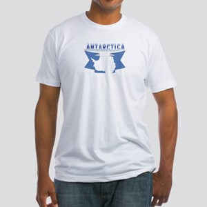 Antarctic flag ribbon Fitted T-Shirt