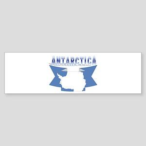 Antarctic Bumper Sticker (flag ribbon)