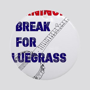 Bluegrass Banjo Break Ornament (Round)