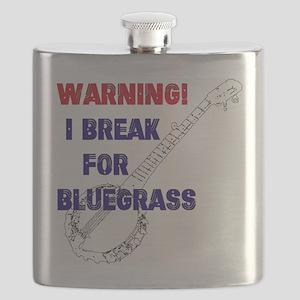 Bluegrass Banjo Break Flask