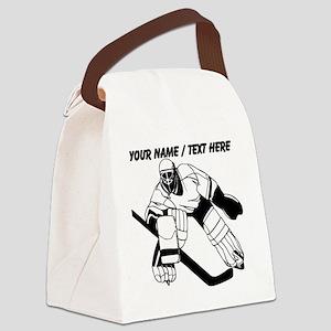 Custom Hockey Goalie Canvas Lunch Bag