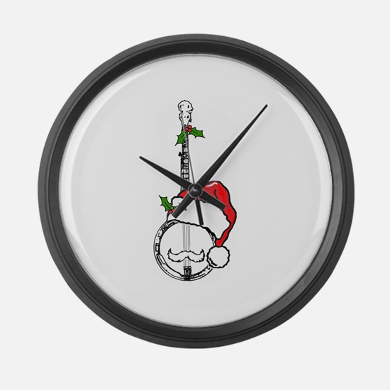 BanjoSanta.png Large Wall Clock