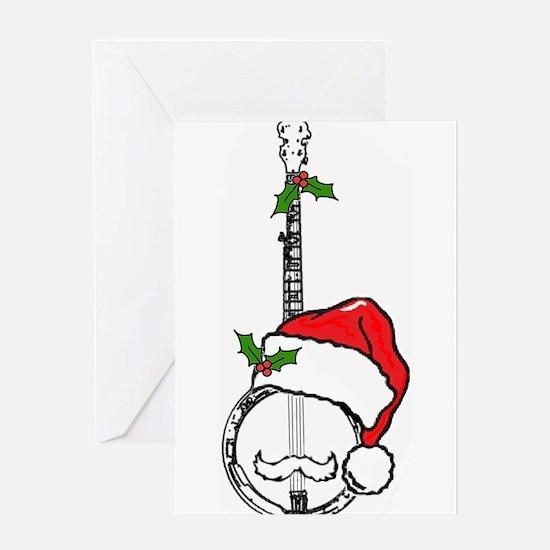 BanjoSanta.png Greeting Cards
