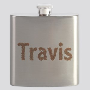 Travis Fall Leaves Flask