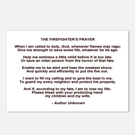 Firefighters Prayer Postcards (Package of 8)