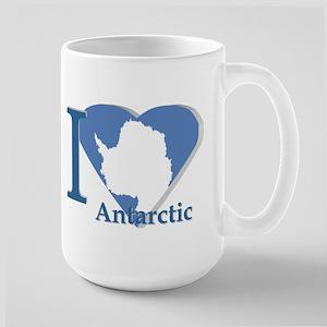I love antarctic Large Mug