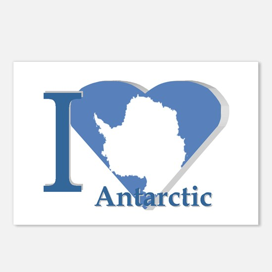 I love antarctic Postcards (Package of 8)