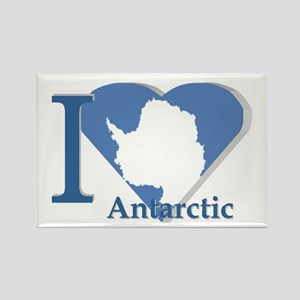I love antarctic Rectangle Magnet