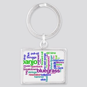 banjo wordle Keychains