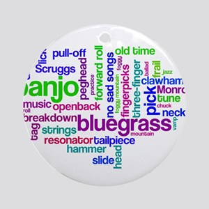 banjo wordle Ornament (Round)