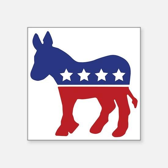 Democrat Donkey Rectangle Sticker