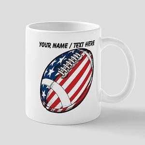 Custom Stars And Stripes Football Mugs