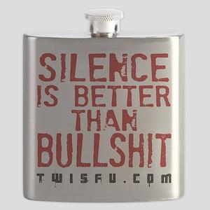 SILENCE - WHITE Flask
