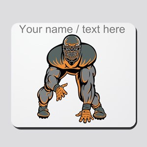 Custom Football Lineman Mousepad
