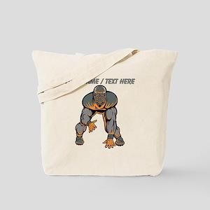 Custom Football Lineman Tote Bag