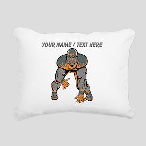 Custom Football Lineman Rectangular Canvas Pillow