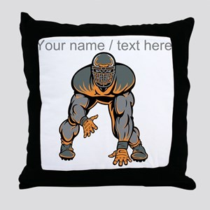 Custom Football Lineman Throw Pillow