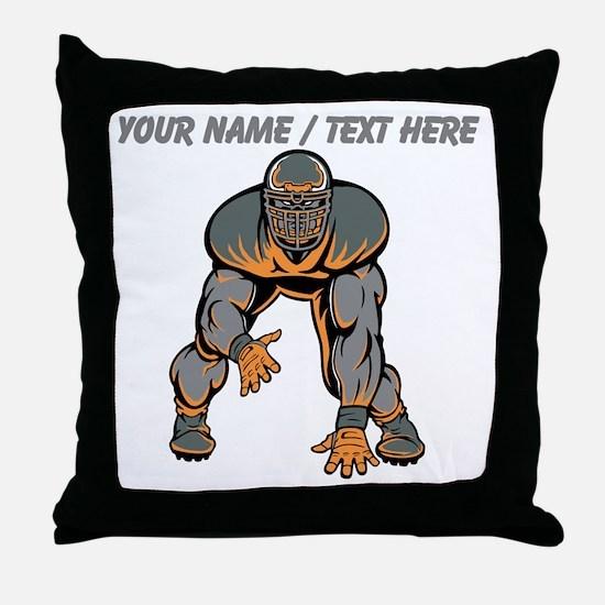 Custom Football Lineman Throw Pillow