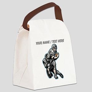 Custom Football Players Canvas Lunch Bag