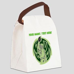 Custom Football Touchdown Canvas Lunch Bag