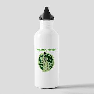 Custom Football Touchdown Sports Water Bottle