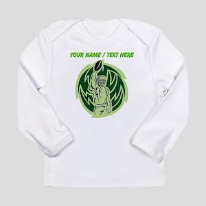 Custom Football Touchdown Long Sleeve T-Shirt
