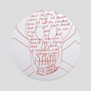 Julius Caesar Skull Red Ornament (Round)